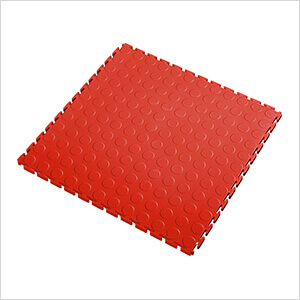 7mm Red PVC Coin Tile (10 Pack)