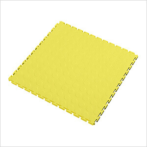 7mm Yellow PVC Coin Tile (10 Pack)