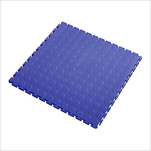 7mm Blue PVC Coin Tile (10 Pack)