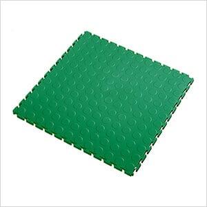 7mm Green PVC Coin Tile (10 Pack)