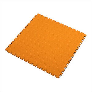 7mm Orange PVC Coin Tile (10 Pack)