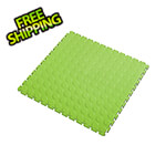 Lock-Tile 7mm Neon Green PVC Coin Tile (10 Pack)