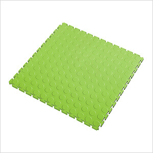 7mm Neon Green PVC Coin Tile (10 Pack)