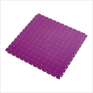 7mm Purple PVC Coin Tile (10 Pack)