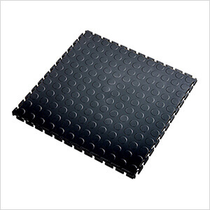 7mm Black PVC Coin Tile (30 Pack)