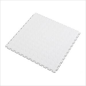 7mm White PVC Coin Tile (50 Pack)