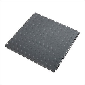 5mm Dark Grey PVC Coin Tile (10 Pack)