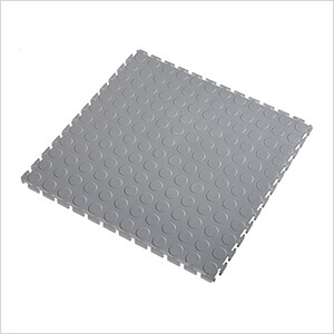 5mm Light Grey PVC Coin Tile (30 Pack)