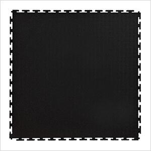 7mm Black PVC Smooth Tile (10 Pack)