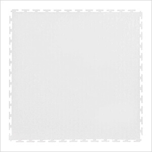 7mm White PVC Smooth Tile (10 Pack)