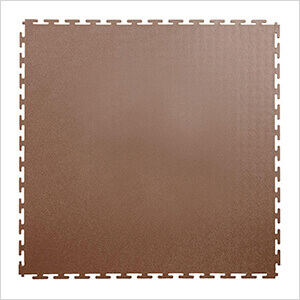 7mm Brown PVC Smooth Tile (10 Pack)