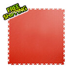 Lock-Tile 7mm Red PVC Smooth Tile (10 Pack)
