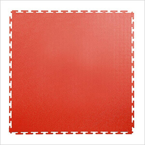 7mm Red PVC Smooth Tile (10 Pack)