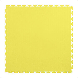 7mm Yellow PVC Smooth Tile (10 Pack)