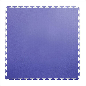 7mm Blue PVC Smooth Tile (10 Pack)