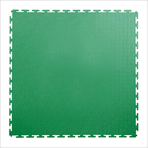 7mm Green PVC Smooth Tile (10 Pack)
