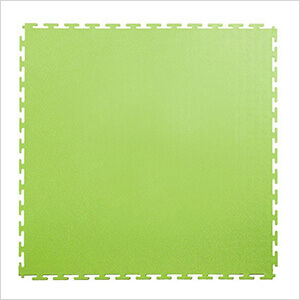 7mm Neon Green PVC Smooth Tile (10 Pack)