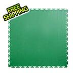 Lock-Tile 7mm Green PVC Smooth Tile (30 Pack)