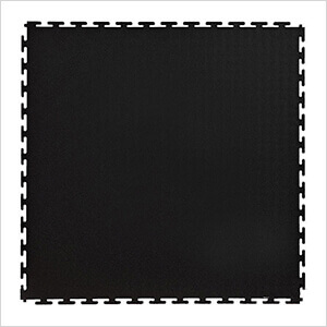 7mm Black PVC Smooth Tile (50 Pack)