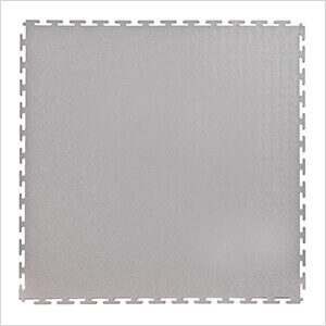 7mm Light Grey PVC Smooth Tile (50 Pack)