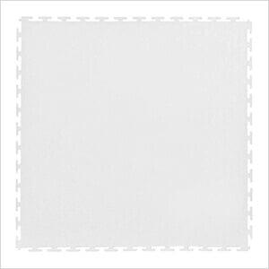 7mm White PVC Smooth Tile (50 Pack)