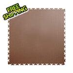 Lock-Tile 7mm Brown PVC Smooth Tile (50 Pack)