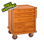 Gerstner Oak 5-Drawer Roller Cabinet (Imported)