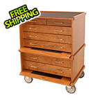 Gerstner Pro-Series Roller Cabinet in American Cherry (Made in USA)