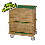 Gerstner Pro-Series Roller Cabinet in Golden Oak (Made in USA)