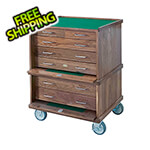 Gerstner Pro-Series Roller Cabinet in Natural Walnut (Made in USA)