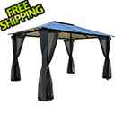 Paragon Outdoor 10 x 12 ft. Durham Hard-Top Gazebo with Mosquito Netting