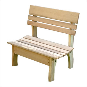 "32"" Red Cedar Chickadee Backed Bench"