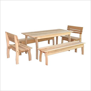 "58"" Red Cedar Gathering Dining Set"