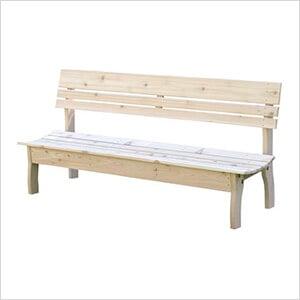 "70"" Red Cedar Chickadee Backed Bench"