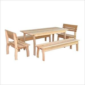 "94"" Red Cedar Gathering Dining Set"