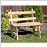 """30"""" Treated Pine Traditional Garden Bench with Back"""