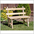 """40"""" Treated Pine Traditional Garden Bench with Back"""