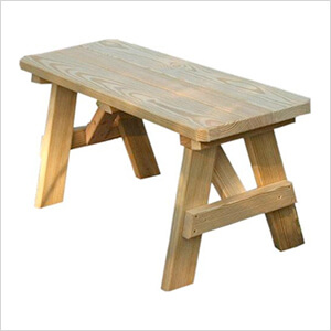 """66"""" Treated Pine Traditional Garden Bench"""