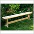 6' Treated Pine Trestle Garden Bench