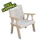 Creekvine Designs Treated Pine Fanback Patio Chair