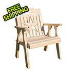 Creekvine Designs Treated Pine Starback Patio Chair