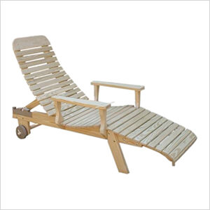 Treated Pine Chaise Lounge with Arms