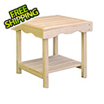 Creekvine Designs Treated Pine Rectangular End Table