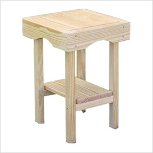 """20"""" x 20"""" Treated Pine Square End Table"""
