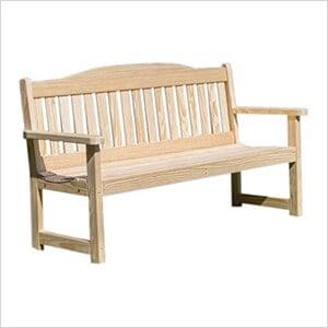 "76"" Treated Pine English Garden Bench"