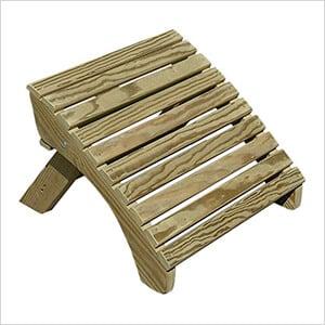 Treated Pine Folding Adirondack Footstool