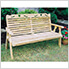 """53"""" Treated Pine Crossback with Heart Garden Bench"""