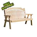 "Creekvine Designs 53"" Treated Pine Fanback Garden Bench"