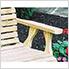 "53"" Treated Pine Rollback Garden Bench"