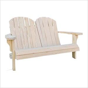 "64"" Treated Pine Low Curveback Garden Bench"